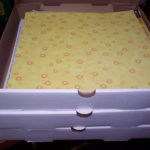 Pizza box storage for scrapbook paper