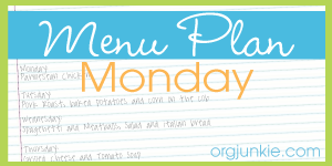 MPM Button Menu Plan Monday: Cooking School
