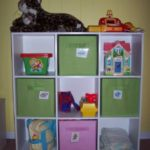 Organizing toys with cubbies