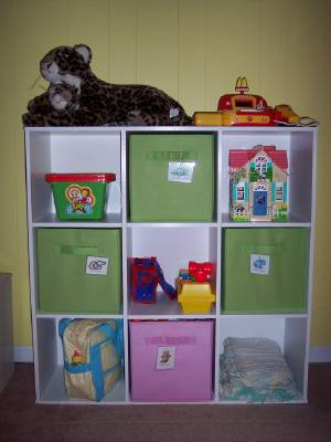 This Particular Cubby Shelving Unit Features Nine Cubbies, But You Can Also  Get It In Eight. The Fabric Baskets Are Purchased Separately So You Can Use  As ...