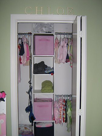 What a difference some purging ahem and a closet organizer can make