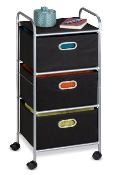 3 drawer fabric storage cart