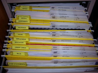 My Filing System Makeover