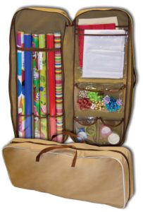 gift wrap storage bag
