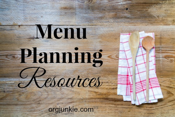 Menu Planning Resources