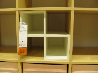 Then in the next section of Ikea I stumbled across these cubbies ...