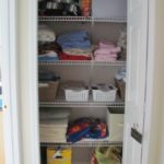 My linen closet before and after