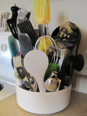 Organizing Kitchen Cooking Utensils