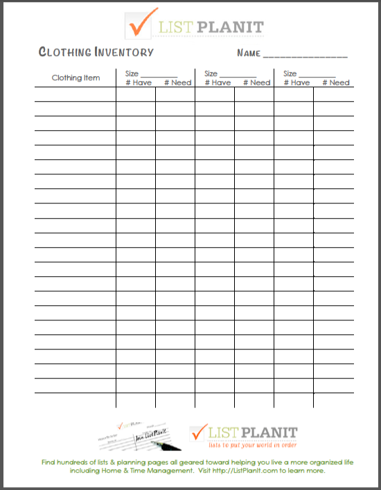 Inventory Sheets Free Printable Search Results Calendar 2015