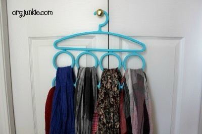 With A Scarf Organizer: