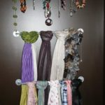 4 Inexpensive Ways to Organize Scarves