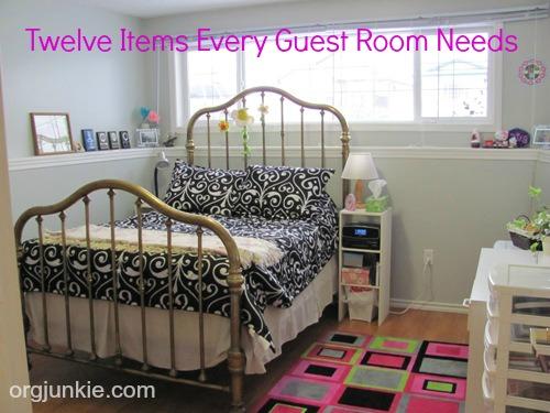 Twelve Items Every Guest Room Needs