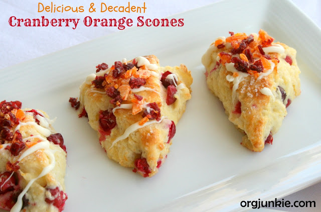 Cranberry Orange Scones -