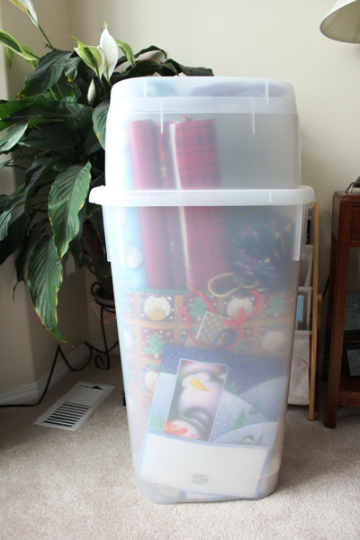 Organizing A Christmas Gift Wrap Center For An Organized Season