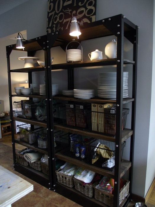 aka design kitchen restaurant style shelves