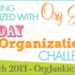 31 Day Organizational Challenge ~ 1st Progress Link Up