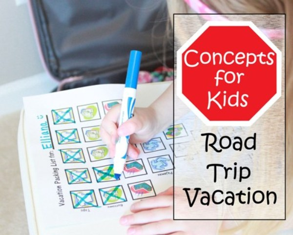 Planning a road trip vacation with kids?  Check out these awesome tips plus free printable vacation packing list!