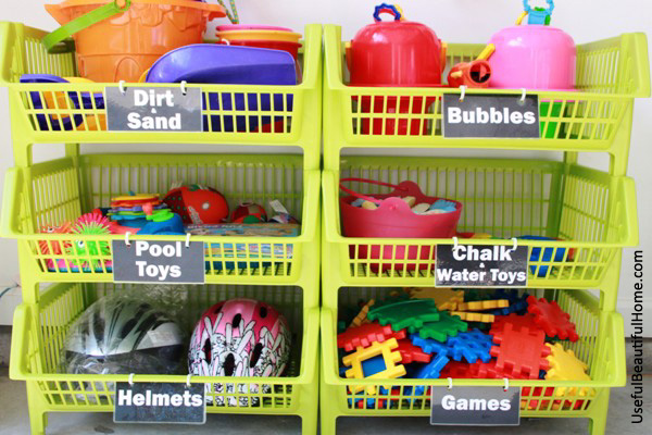 Garage Toy Storage That Said Not Everything Fit Perfectly In The Bins I Found Specifically Bouncing Were Too And Many