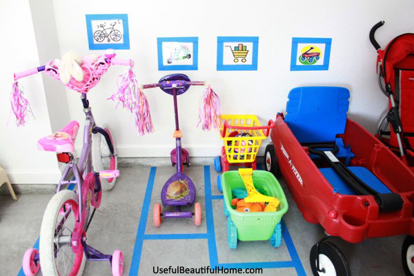 I think I've covered all the major areas of outdoor toys. Naturally, if  your children are older, some of these methods won't apply. - Organizing Concepts For Kids: Garage Toys + Free Printable