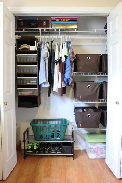Organized Teenage Boy Closet