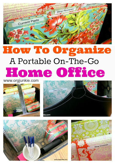 Organizing A Portable Office at orgjunkie.com