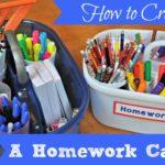 How to Create a Homework Caddy