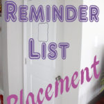 Reminder List Placement