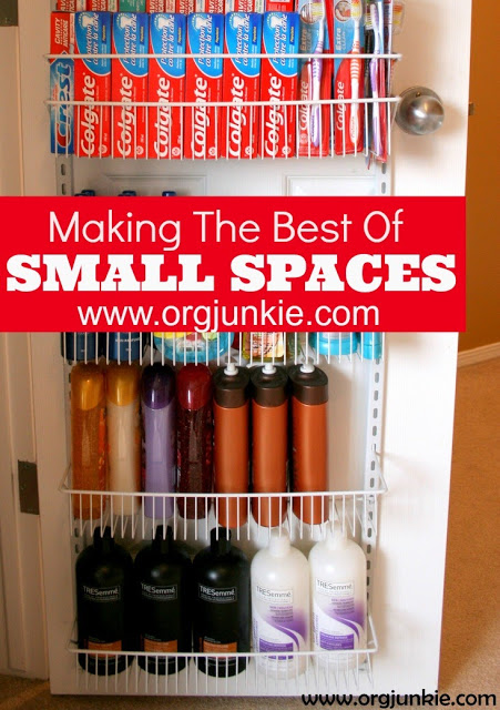 making the most of small spaces with an over the door rack