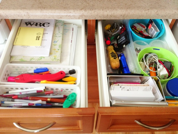 junk drawer organization after