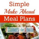 Giveaway ~ Simple Make Ahead Meal Plans