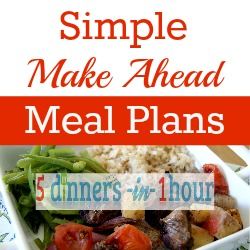 Simple Make Ahead Meal Plans Giveaway - open until September 11/13