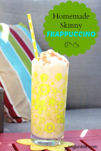 homemade skinny coffee frappuccino recipe at I'm an Organizing Junkie