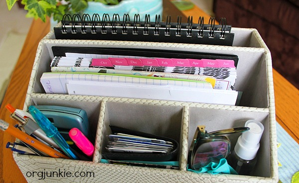 Mine Includes Things Like My Password Book, Camera Cord, My Planner (I  Switched To The Smaller Size), My List Notebook, Pens, Pencils,  Highlighters, ...