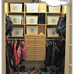 How to Organize a Kids Coat Closet ~ Day #19