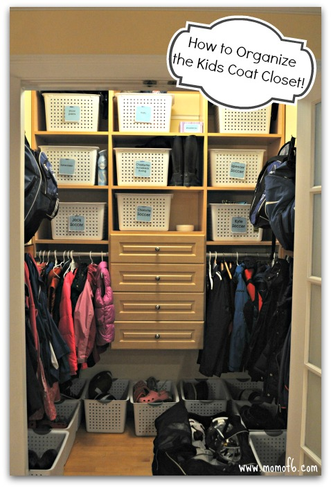 Great How To Organize A Kids Coat Closet ~ Day #19