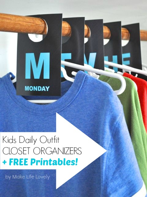 Free Printable Closet Labels Day 9