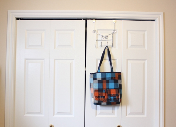 bag on front of door