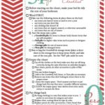 Free Organize Your Bedroom Closet Printable Checklist ~ Day #23