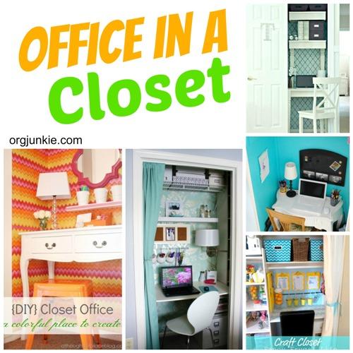 diy closet office space saving create closet office day 17