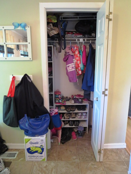 entryway closet before