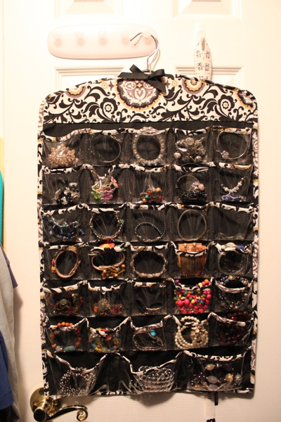 jewelry storage on back of door