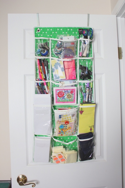 office supplies on door