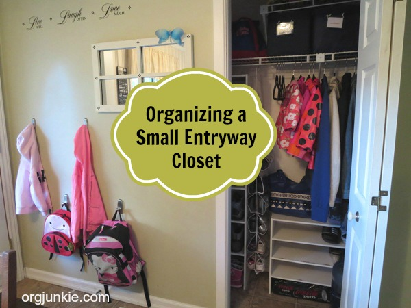 Organizing a Small Entryway Closet ~ Day #