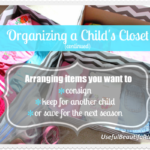 Organizing a Child's Closet - Part 2