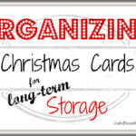 Organizing Christmas Cards for Long-term Storage