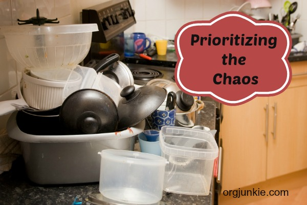 Prioritizing the Chaos ~ Creating Peaceful Organized Homes in 2014