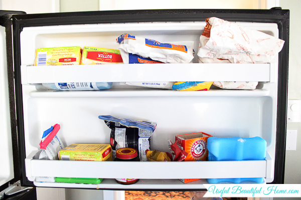 Organizing a Top Freezer Door