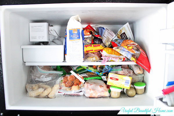 Organizing a Top Freezer