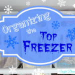 Organizing the Top Freezer
