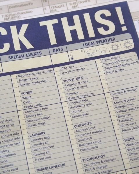 Pack It Checklist